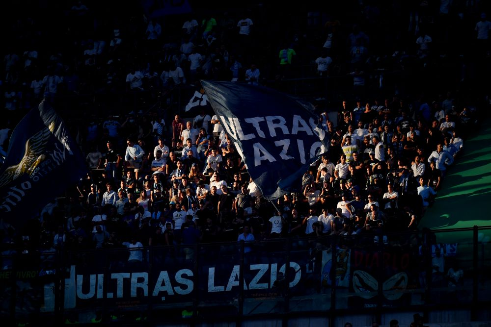 Lazio fans are seen in the stand at half time during the game against AC Milan at San Siro, Milan September 12, 2021. — Reuters pic