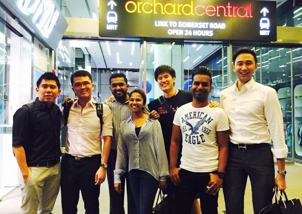 Danny Danabalan (second from right) with his schoolmates during a reunion in Singapore back in 2015. — Picture courtesy of Danny Danabalan