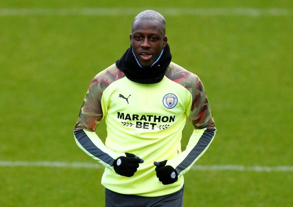 Manchester City's Benjamin Mendy during training at the Etihad Campus in Manchester February 25, 2020. — Reuters pic