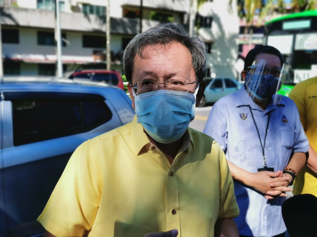 Dr Sim blamed Sarawak's high number of Covid-19 infections on those entering the state, be they returnees or non-locals. ― Borneo Post pic