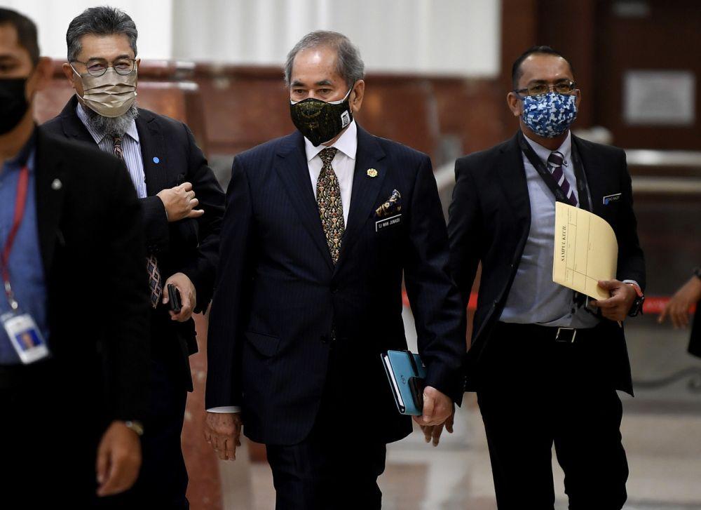 Datuk Seri Wan Junaidi Tuanku Jaafar is pictured at Parliament in Kuala Lumpur September 14, 2021. ― Bernama pic