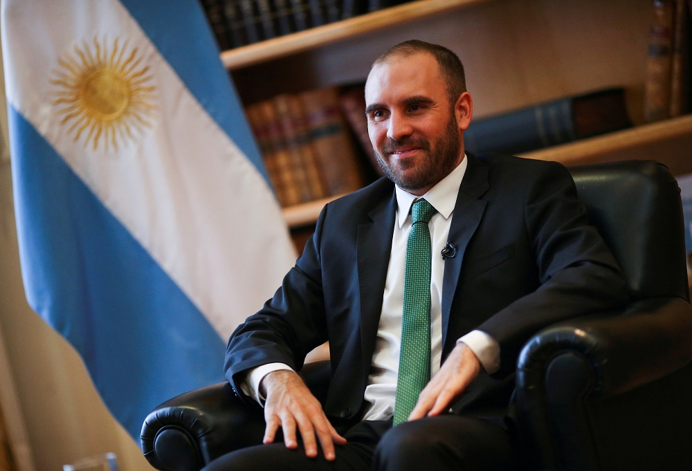 """Argentina's Economy Minister Martin Guzman gave what the government called a """"roadmap"""" on Argentina's economic outlook, saying the state needed to take a leading role in driving an economic rebound after the Covid-19 pandemic, investing in key sectors to boost growth. — Reuters pic"""