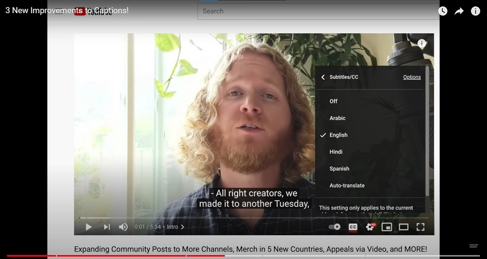 YouTube has unveiled three new options to improve automatic captioning on both the site and the mobile app. — Picture courtesy of YouTube