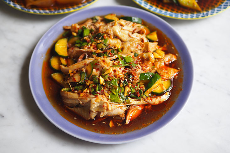 This Szechuan Saliva Chicken is simply addicting ... you won't stop at one piece