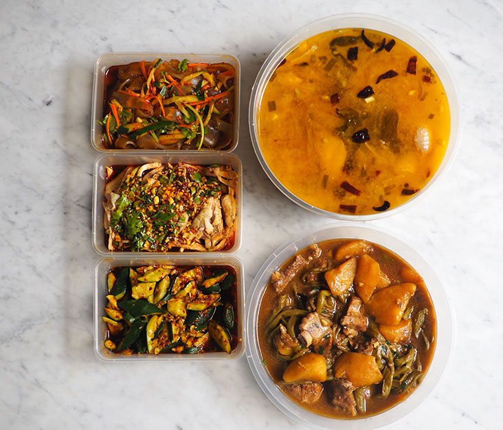 Your take out meals are neatly packaged in boxes, making it easy to eat them out of the box as well.