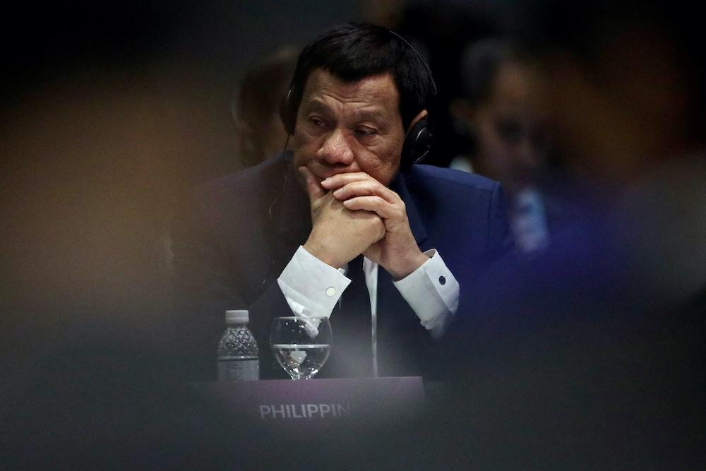 Philippines President Rodrigo Duterte attends the Aseam Plus Three Summit in Singapore, November 15, 2018. ― Reuters pic