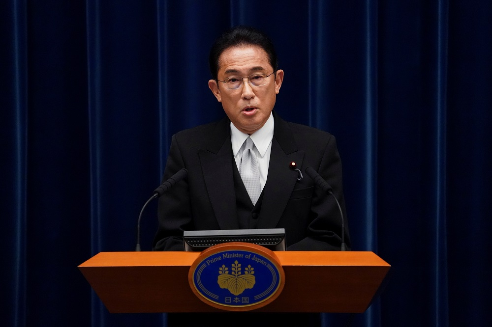 Fumio Kishida, Japan's prime minister, speaks during a news conference at the prime minister's official residence in Tokyo, Japan October 4, 2021. ― Toru Hanai/Pool via Reuters