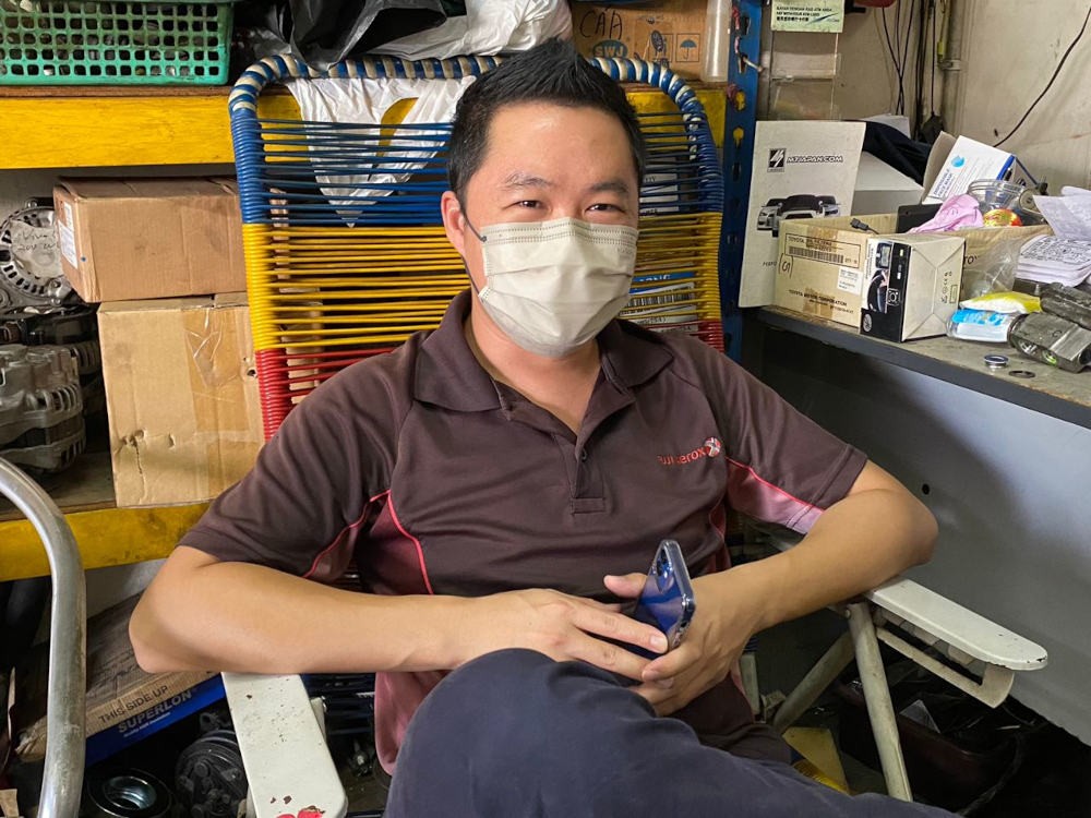 Johor Baru-based office automation supply supervisor Calvin Ong, 38, said he already has plans to return to his hometown in Cheng, Melaka with his wife and children on Friday evening. — Picture by Ben Tan