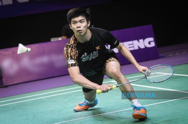 Although it has been a long time since he took part in a competitive match following his first-round exit in the Spain Masters in May, the 120th-ranked Leong Jun Hao showed great fighting spirit against the 27-year-old Kenta Nishimoto. — Picture from Twitter/bernamadotcom