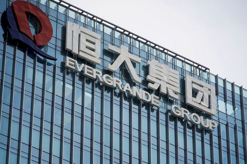 The company logo is seen on the headquarters of China Evergrande Group in Shenzhen, Guangdong province, China September 26, 2021. — Reuters pic
