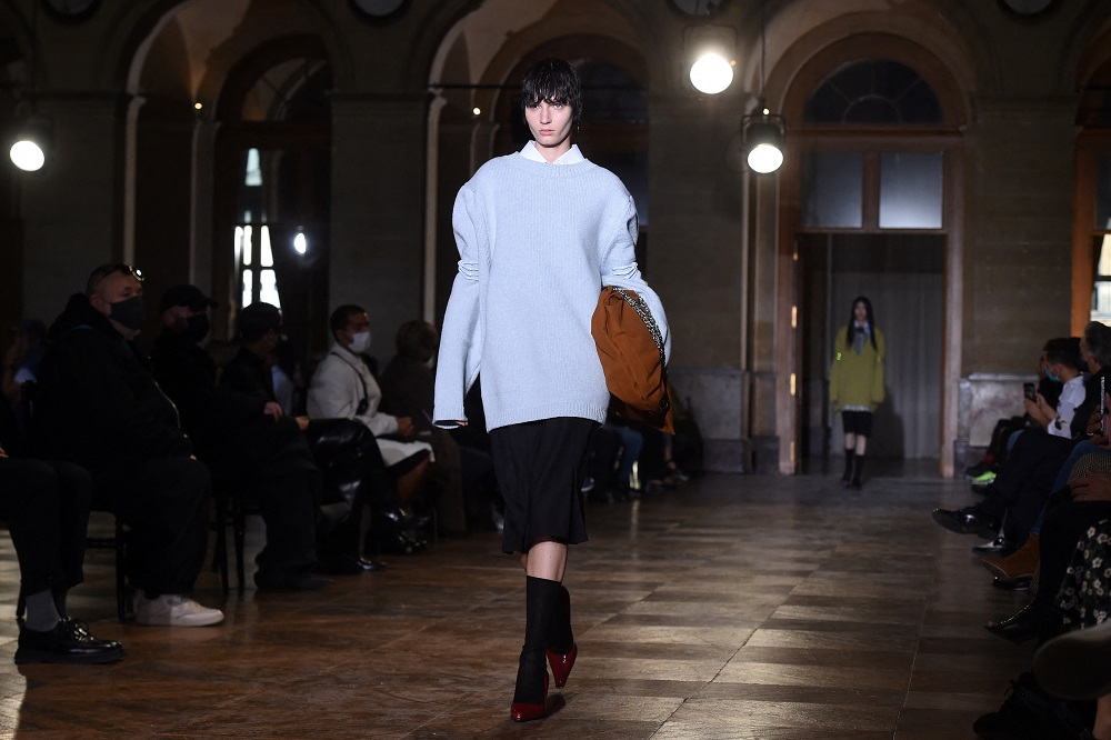 Raf Simons presented gender fluid looks during the recent Paris Fashion Week. ― AFP pic