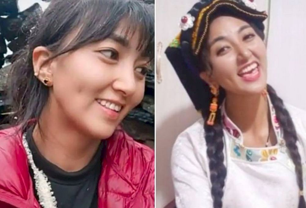 Tibetan vlogger known on social media as Lamu, died after being doused in gasoline and set on fire by her former husband. — Picture via social media