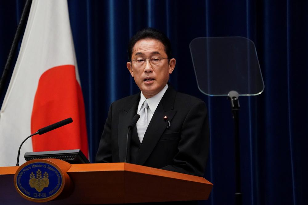岸田文雄本月4日就任首相,10天后就解散众议院,创下战后首相上台后,最短时间内解散众议院的纪录。-路透社-