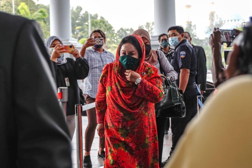 Datin Seri Rosmah Mansor is pictured at Kuala Lumpur High Court October 5, 2021. — Picture by Firdaus Latif