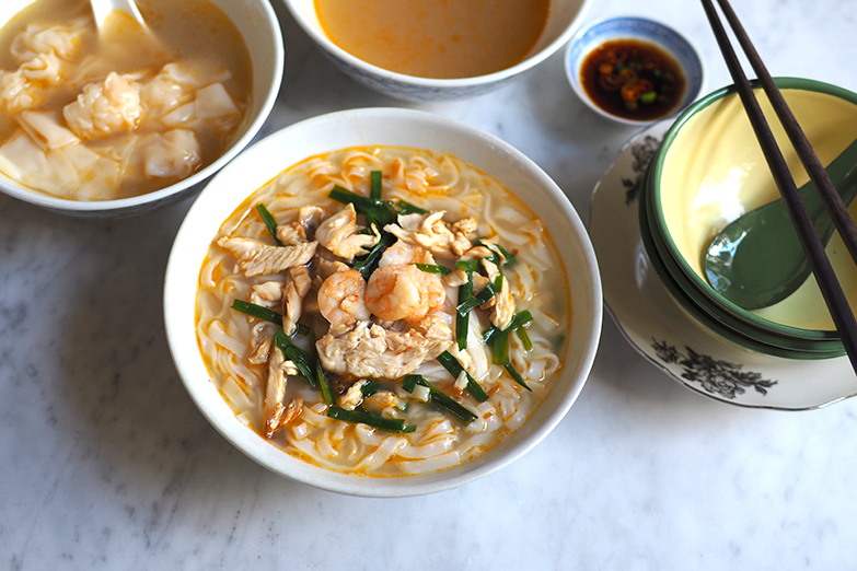 A bowl of 'kai see hor fun' is elevated with a delicate, refined broth and smooth rice noodles. — Pictures by Lee Khang Yi