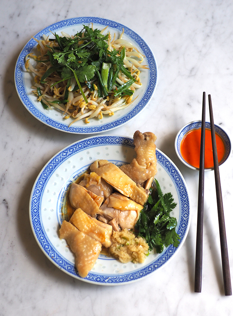 You can order side dishes like their poached smooth chicken to accompany your meal.
