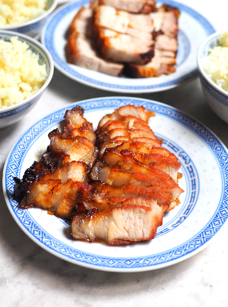 The 'char siu' is tender but salty rather than sweet tasting.