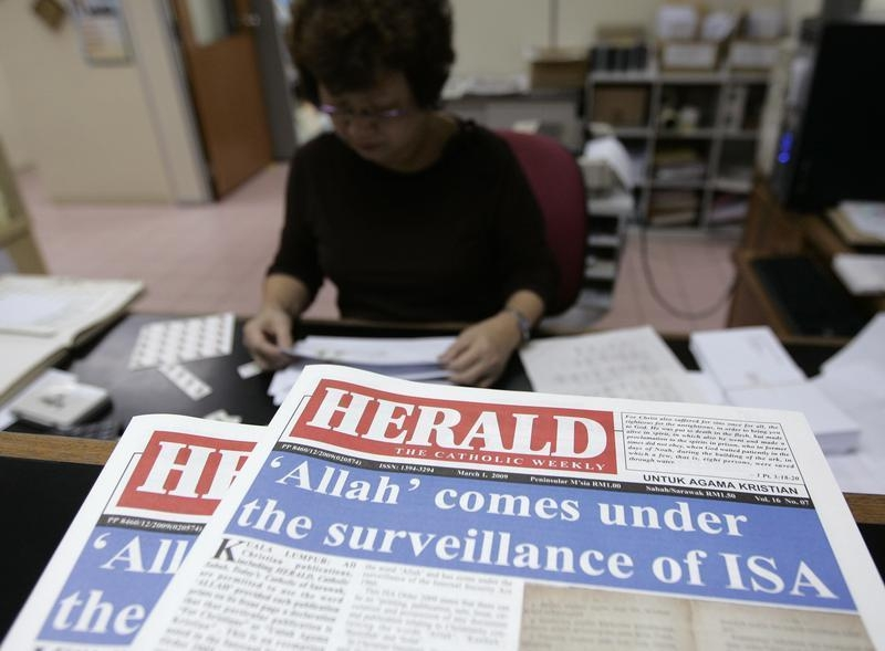 'Herald, the Catholic Weekly,' is seen on the table at its office in Kuala Lumpur February 27, 2009. — Reuters pic