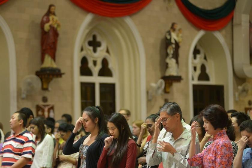 半岛的天主教会将停止弥撒两周。-K.E. Ooi摄-