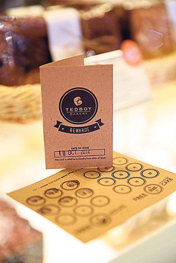 Loyalty cards for Tedboy Bakery regulars