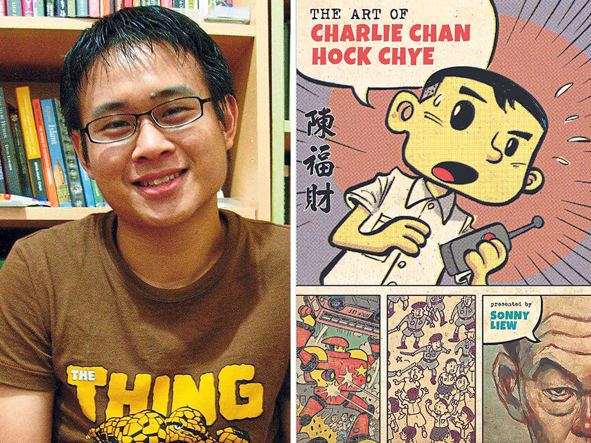 Sonny Liew is a Malaysian-born, Eisner Award nominated comic artist and illustrator whose work includes titles for DC Vertigo, Marvel, and Disney (left). Liew's The Art of Charlie Chan Hock Chye deftly intersperses the history of Singapore with the history of the comic medium (right) — Pix courtesy of Sonny Liew