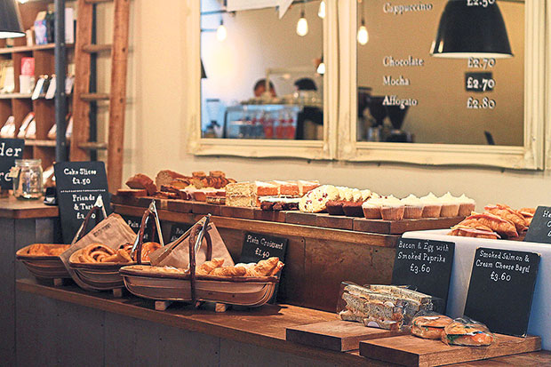 An assortment of pastries and cakes at TAP Coffee.