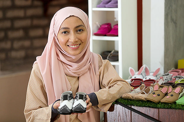 Farhan Nadia Bakly was looking for the perfect, cute pair of shoes for her daughter when she decided it was more cheaper to make her own. — Pictures by Choo Choy May