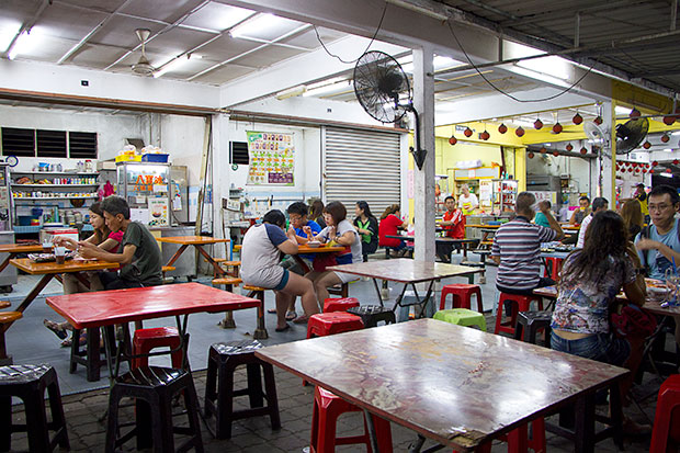 Malaccans visit the food court by the pasar borong in Batu Berendam for lip-smackingly good asam pedas, a spicy and sour fish stew.