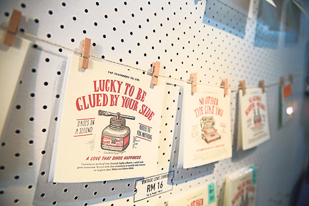 Old-school letterpress greeting cards by The Alphabet Press.