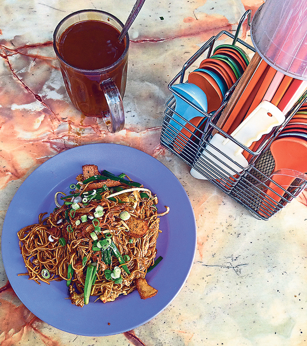 Start your day with a plate of Emperor Noodles at Pasar Desa Setapakmarket under the trees at Pasar Desa Setapak