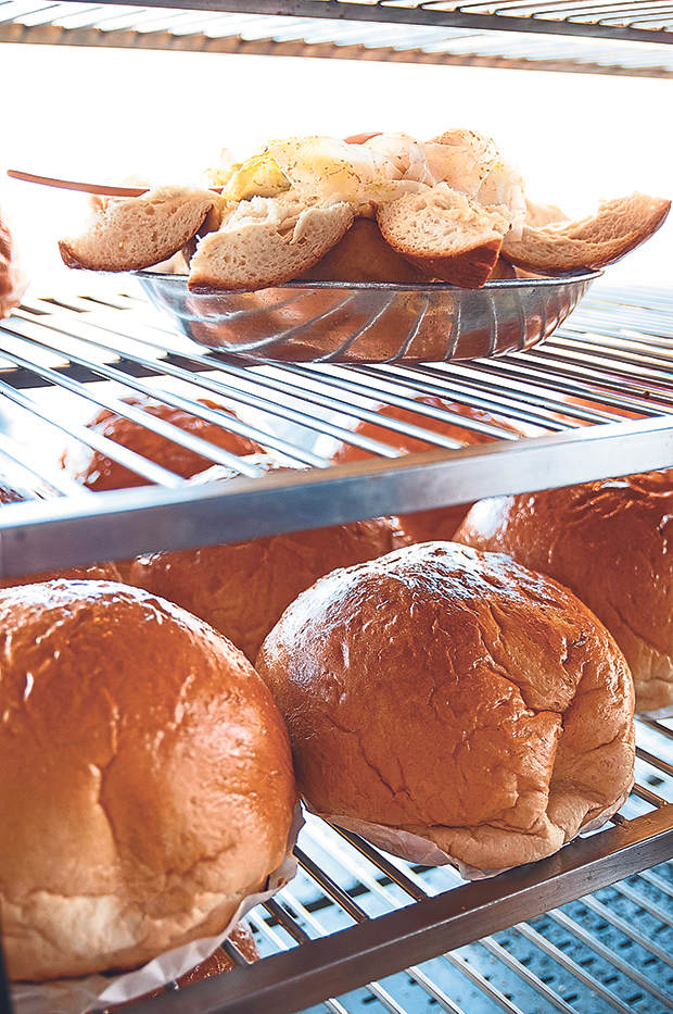 The Lucky King buns are large enough to share between two to three people and are usually sold out by lunchtime