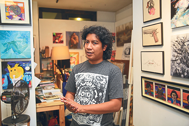 Ajim Juxta co-founded Titik Merah with several fellow artists. – Photos by Choo Choy May