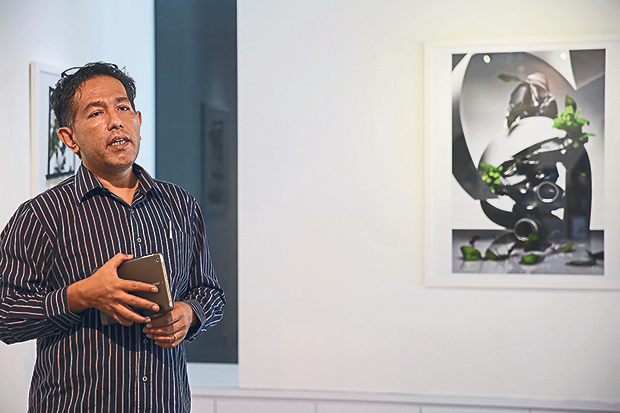 S. Jamal Al-Idrus introducing his gallery, Artemis Art