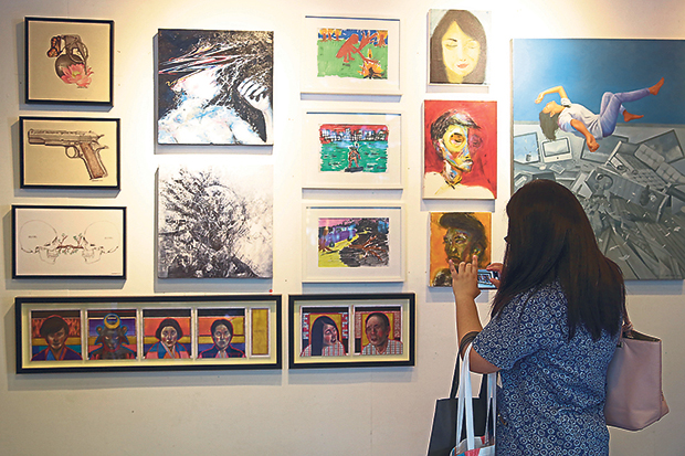 Besides the founders' own works, Titik Merah Gallery also showcases those of other local artists