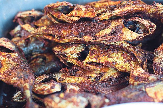 Fried fish at Bangsar Fish Head Corner.