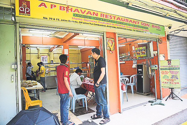 A P Bhavan may look empty most of the time but their patrons prefer to pack home their biryani.