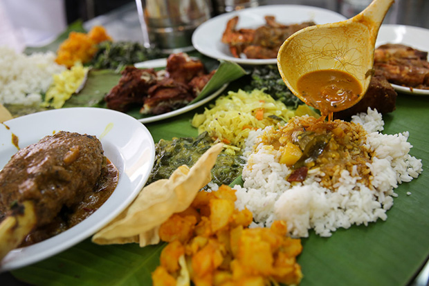 The best way to kick back during the weekend is to have a banana leaf rice lunch at Moorthy's Mathai Restaurant.
