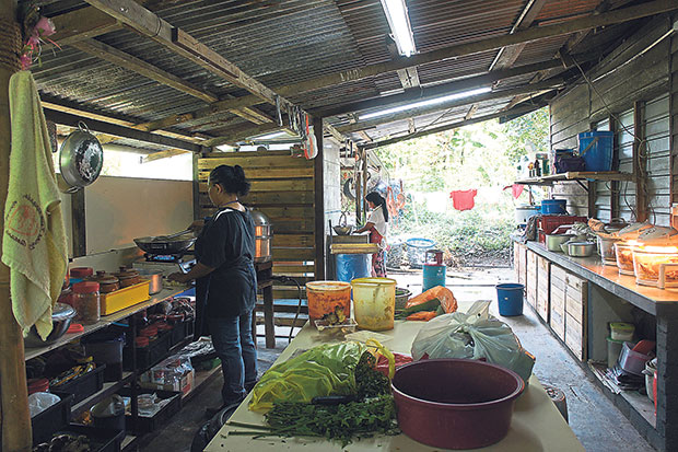 The simple kitchen at the back of the house where all the food magic happens.