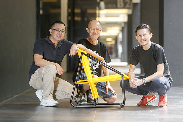 From left to right: Desmond Phang, Tang Mun Kian and Bernard Chong are partners in MAD3, a design studio. — Pictures by Choo Choy May and courtesy of MAD3 Studio