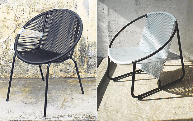 Modern meets old-school in the form of the plastic cord chair.