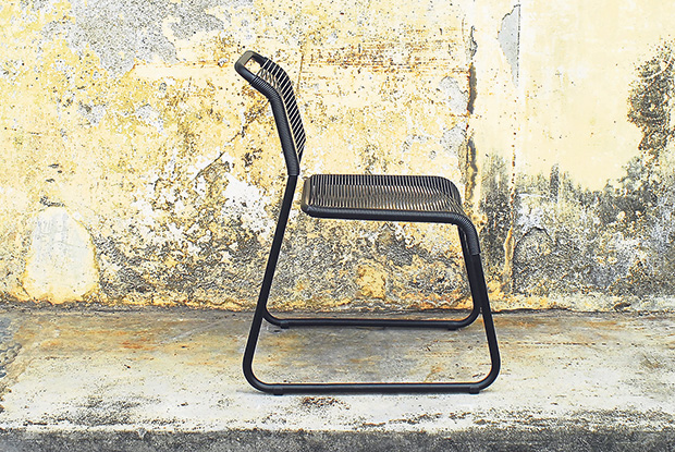 The 'b' chair is shaped like the letter 'b'.