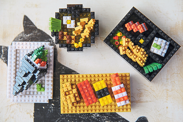 Tan's first official nanoblock series features four different types of Japanese food items.