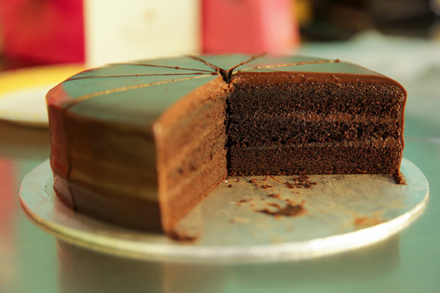 It took many years for Cheng to perfect his Phillipine chocolate cake that has a light, non-greasy texture.
