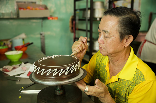 The best way to celebrate a milestone occasion is with their Phillipine chocolate cake.