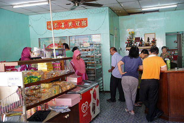 Customers are constantly trickling into the shop to buy their orders, some even come as far as Johor!