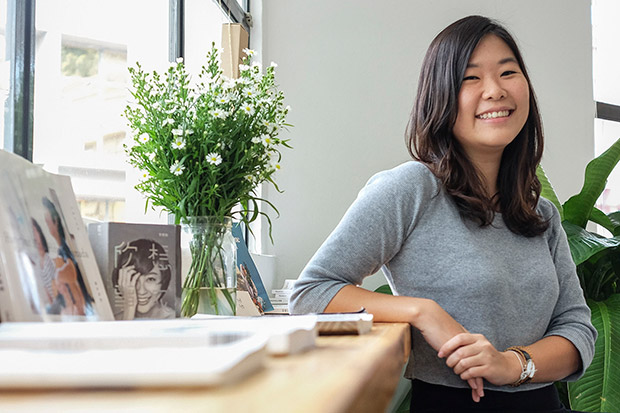 The bubbly and down-to-earth comic writer and illustrator Fishball.