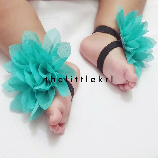 One of the key  pieces in thelittlekrl's collection is baby barefoot sandals.