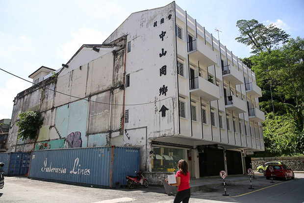 The refurbished Zhongshan Building in Kampung Attap was once a row of 1950s interconnected shophouses. — Pictures by Choo Choy May