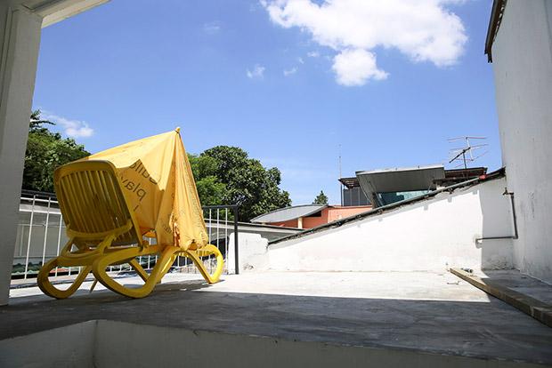 Ibnu's secret rooftop getaway.