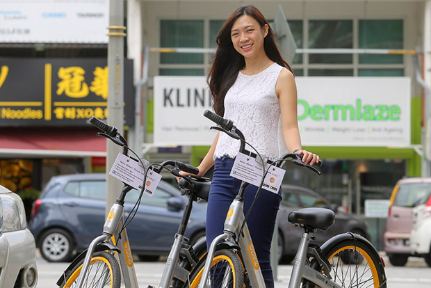 Elaine Chan, marketing manager of oBike Malaysia shows us how it works.